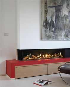 Ortal's fireplace image gallery is designed to inspire your next project. Find the fireplace that matches your unique style. Corner Gas Fireplace, Fireplace Fronts, Wall Mounted Fireplace, Fireplace Design, Fireplace Ideas, Contemporary Gas Fireplace, Contemporary Decor, Cool Walls, Architecture