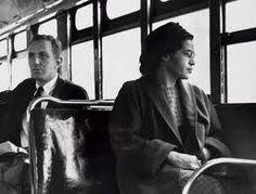 Rosa Parks 1913-2005, refused to give up her bus seat to a white man indirectly leading to some of the most significant civil rights legislation of American history. She sought to play down her role in the civil rights struggle, but for her peaceful and dignified campaigning she became one of the most well respected figures in the civil rights movements.