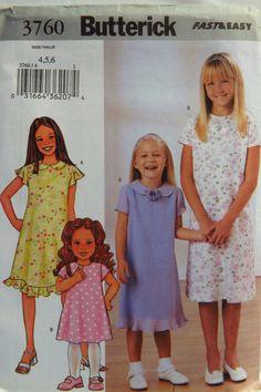 Butterick 3760 Girls' Dress