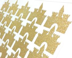 20 Glitter no shed gold castle stickers for wedding #stickers #planner #birthday #castle #girl #dog #babyshower #invitation baby shower