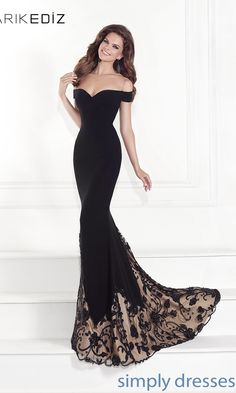 Dress, Off the Shoulder Sweetheart Gown by Tarik Ediz - Simply Dresses