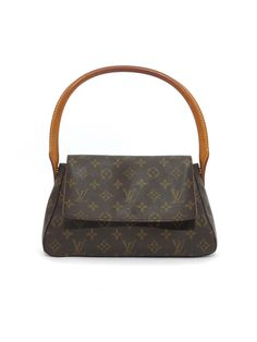 fcf7bb9ed7f5 Louis Vuitton Monogram Mini Looping Bag www.sabrinascloset.com Leather  Handle, Pre Owned. Sabrina's Closet