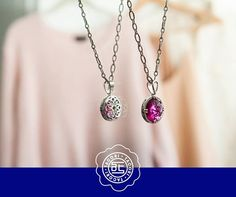 Beautiful from back to front!  Red #pendant from the #Tacori City Lights collection. #ShopIDC