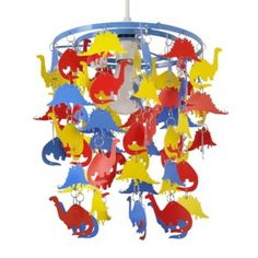 Dinosaurs Ceiling Pendant Light Shade in Multi Coloured