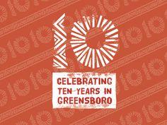 Ten Thousand Villages Greensboro - 10 Year Anniversary Logo
