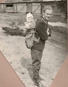 Finn Krag Brynildsen and Britt Brynildsen, 1954