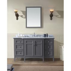 """You'll love the Luz 60"""" Single Bathroom Vanity Set at Wayfair - Great Deals on all Home Improvement  products with Free Shipping on most stuff, even the big stuff."""