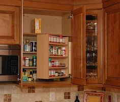 hinged kitchen storage shelf