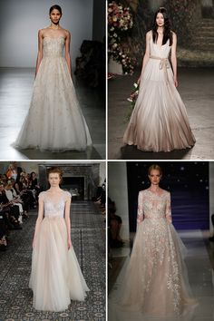 Blush and Nude Gowns | NYC Bridal Fashion Week 2016 Trends | www.onefabday.com
