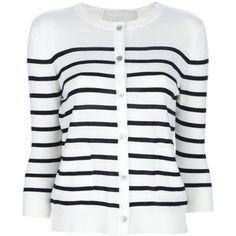 CLU Striped cardigan - Polyvore