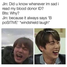 Haha shouldn& be as funny as it is, but it& Jin, so any joke becomes hilarious paired with a picture of him❤️ The post Haha shouldn& be as funny as it is,& appeared first on Bts Memes. Bts Memes Hilarious, Bts Funny Videos, Funny Tweets, Bts Namjoon, Hoseok, Bts Jin, Jin Dad Jokes, Pokerface, Images Gif