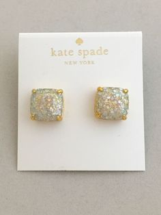 Kate Spade Opal Galaxy Glitter Stud Square Earrings Gold Plated Authentic in Jewelry & Watches, Fashion Jewelry, Earrings | eBay