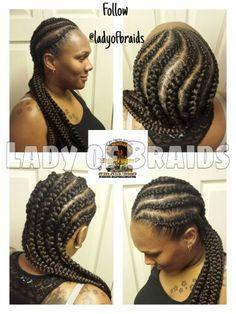 Ghana Goddess Braids Hairstyle hair protective style
