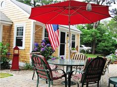 Patio Living in a South Yarmouth vacation rental Mid Cape Cod