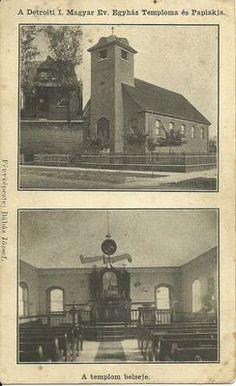 Old Foreign Postcard A Detroiti I Magyar EV Egyhaz Temploma ES Paplakja   eBay
