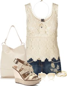"""""""Floral embroidery short"""" by marincounty on Polyvore"""