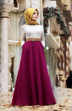 Günlük Tesettür Elbise Modelleri ,  #bayanelbise #günlükelbise #tesettürelbise Modest Outfits, Modest Fashion, The Dress, Clothes, Dresses, Places, Collection, Outfits, Vestidos