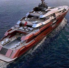 Beautiful red mega yacht they should of painted GREEN for the color of money. ww… Beautiful red mega yacht they should of painted GREEN for the color of money. Jet Ski, Jet Privé, Yacht Luxury, Luxury Travel, Luxury Cars, Luxury Homes, Luxury Yacht Interior, Luxury Yachts For Sale, Luxury Vehicle