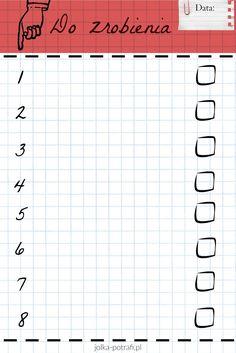 Lista ważnych rzeczy do zrobienia.  #check list