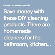 Save money with these DIY cleaning products. There are homemade cleaners for the bathroom, kitchen, laundry, and more to choose from. Natural Oven Cleaner, Diy Shower Cleaner, Homemade Floor Cleaners, Making A Gift Basket, Homemade Bleach, Diy Laundry Detergent, Diy Cleaning Products, Money, Bathroom