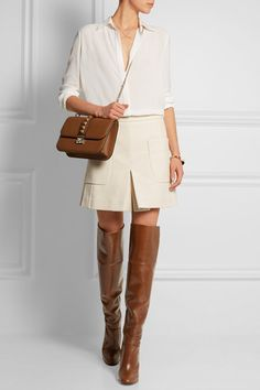 Chloé | Glossed-leather over-the-knee boots | NET-A-PORTER.COM