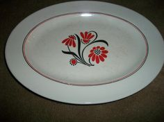Vintage Harker Pottery Co floral serving plate by ARMonaco9, $10.50