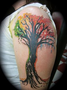 Four seasons tattoo, Adam Rose by AdamRose.deviantart.com on @deviantART - rainbow