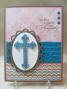 Trefoil Cross Sympathy Card, Stampin' Up!