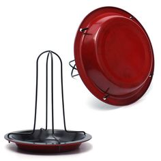 BBQ Accessories  Carbon Steel Upright Chicken Roaster Rack With Bowl Tin Non-stick Cooking Tools  Hot