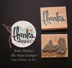 Maui Stamper Stampin' Up! Undefined Carve Your Own Stamp thanks
