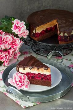 Coffee and raspberry cheese cake - I cook because I like it- Serowy torcik kawowo malinowy – Gotuję, bo lubię Last weekend was to be an absolute marathon of laziness … - Sweets Cake, Cupcake Cakes, Cupcakes, Baking Recipes, Cake Recipes, Dessert Recipes, Delicious Desserts, Yummy Food, Yummy Yummy