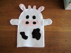 Annemie's werkjes tklapgat: Handpop koe en verbeterde versie varken
