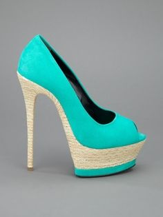 sea colored heels, obsessed! by trudy