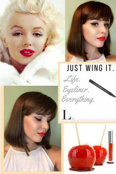 Classic Red Lip and the Wing!  LimeLight By Alcone Candy Apple Enduring Lip Color and the Perfect Eyeliner Pen. #limelightbyalcone #beautyguide #usewhattheprosuse #promakeup #amisamuels #candyapplered #perfecteyelinerpen #classiclook Www.briastone.com