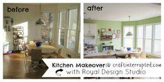 Craft, Interrupted: Makeover Monday ~ Kitchen Art Wall on a Budget Kitchen Buffet, Kitchen Wall Art, Banquette Dining, Dining Table, Upcycle, Dresser, Craft, Furniture, Design