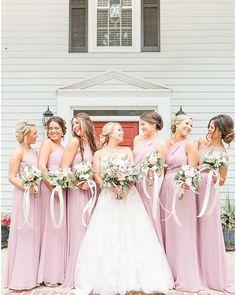 Bride squad. Bridesmaid Dresses, Wedding Dresses, Tulle Wedding, Blush Weddings, Instagram, Squad, Ideas, Fashion, Bridesmade Dresses
