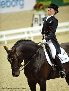 Helen Langehanenberg and Damon Hill NRW, FEI World Cup Dressage, First place. I love watching these two! Anglo Arabe, Horse Dance, Damon Hill, Horse Riding, Trail Riding, English Riding, Dressage Horses, Horse World, Horse Trailers