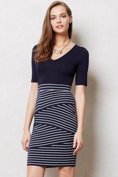 Stripeway Column Dress - Anthropologie.com