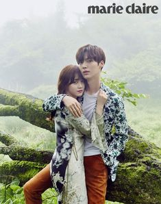 Soon-to-wed actress Gu Hye-sun and actor Ahn Jae-hyun released their wedding photos taken on Korea's offshore vacation spot Jejudo Island on Friday via Marie Claire magazine's official website. More photos are scheduled to be released on May Asian Actors, Korean Actors, Gu Hye Sun, Korean Couple Photoshoot, Cinderella And Four Knights, Hye Sung, Ahn Jae Hyun And Goo Hye Sun, K Drama, Park Hae Jin