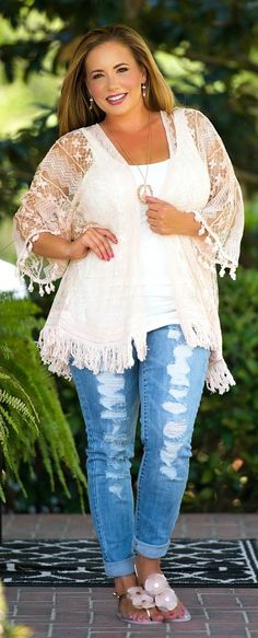 Lazy Day Distress Jean - Light Wash - Perfectly Priscilla Boutique