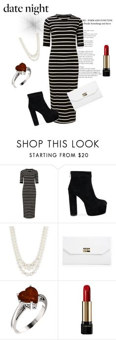 """""""Date night! ❤️"""" by shreyamalhotra ❤ liked on Polyvore featuring Sugarhill Boutique, Anne Klein, Boohoo, Lancôme, DateNight and blackandwhite"""