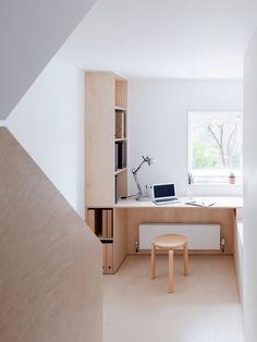Larissa Johnston arranges minimal London home around plywood box