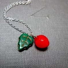 Hey, I found this really awesome Etsy listing at https://www.etsy.com/listing/81550934/strawberry-tree-necklace-red-strawberry