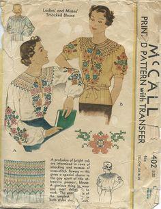 Beautiful Color Combinations, Color Combos, Vintage Dress Patterns, Vintage Dresses, 30s Fashion, Vintage Fashion, Mccalls Patterns, Fabric Manipulation, Cross Stitch Flowers