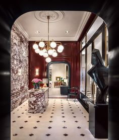 Go Inside Lisbon's Newest Design Destination, Casa do Passadiço - Galerie Luxury Lighting, Luxury Home Decor, Luxury Homes, New Interior Design, Contemporary Interior, Art Et Architecture, Antique Armoire, Italian Luxury Brands, Beautiful Curtains