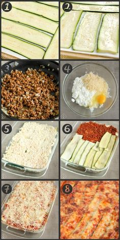 Healthy Keto Lasagna With Zucchini Noodles - Low carb meals Zucchini Lasagna Recipes, Lasagna With Zucchini Noodles, Lasagna Noodles, Recipes With Zucchini, Keto Noodles, Zuchinni Lasagna, Zuchinni Noodles, Lasagna Recipe With Ricotta, Rice Noodles