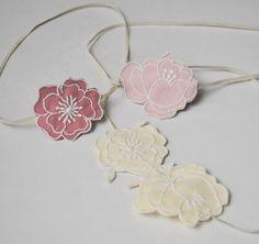 Cream Flower Headband Flowergirl Hair by RosalindGraceDesigns, $22.00