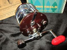1960s Mint condition Penn Peer Monofil Fishing Reel; new in box with manual, repair parts and lube tube