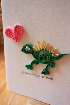 Quilled Iguana by all things paper, via Flickr