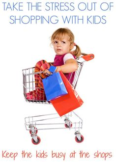 Take the stress out of shopping with kids with these sure fire suggestions.  No more supermarket battles